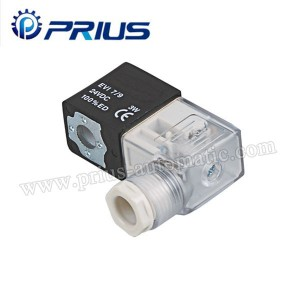 Professional Pneumatic Solenoid valvụ 12V / 24V / 11V / 220V With Junction Igbe / Waya