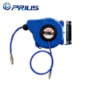 Metal Housing Auto Pneumatic Air Hose Reel Flexible For 15Bar PU Braided Hose