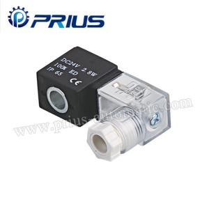 100 Series 24VDC Pneumatic Solenoid Valve Coil Dengan Junction Box Kawat Timbal