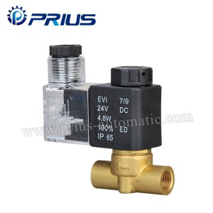 XTF Small Copper Two Way Solenoid Valve , DC12V / DC24V Straight Brass Solenoid Valve