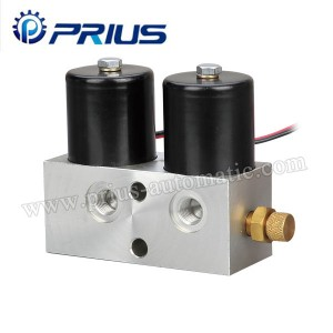 High Pressure Air Flow Control Valve DC12V / DC24V Secondary Shunt Double Coils